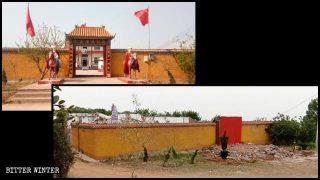비터 윈터 보도 이후 24시간 이내 철거된 마오쩌둥(毛澤東) 주석 사원
