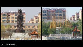 증거 인멸! '중국화'하기 위해 공자 머리로 성형했던 불상 파괴