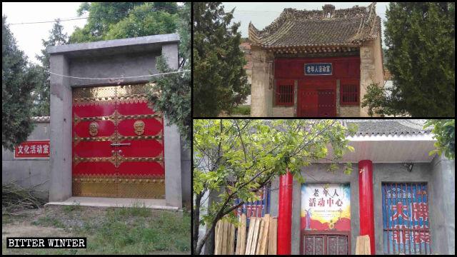 펑밍현의 사원이 문화 시설과 경로당으로 개조되었다
