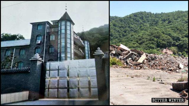 5월 12일 철거된 항저우(杭州)시의 한 삼자교회