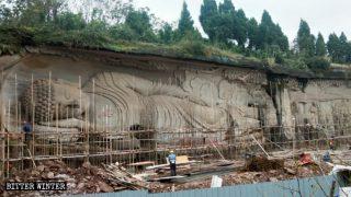 불교 및 도교 조각상이 사라진 쓰촨(四川)성 경관구