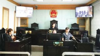 신장 위구르 자치구 쿠이툰(奎屯)시 인민 법원의 모습