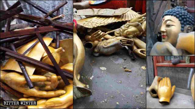 철거된 상들이 잔해만 남긴 채 옮겨졌다