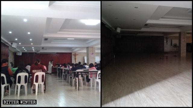2019년 5월에 강제로 폐쇄당한 푸젠(福建)성 핑탄(平潭)현의 한 가톨릭 교회의 주일학교