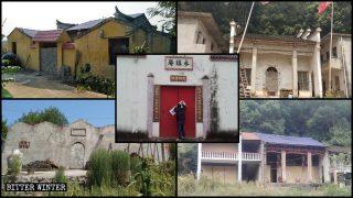탄압받는 후베이성의 민속신앙 사찰들과 사당들