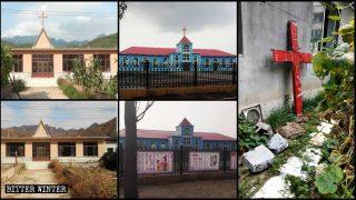 중국 북동부의 여러 교회에서 십자가가 철거돼