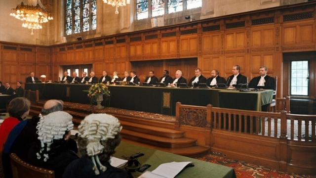 국제사법재판소에서 열린 청문회 광경