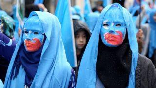 중국 정부의 위구르인 탄압에 대한 항의 시위