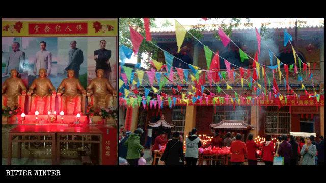 사찰의 부처, 마오쩌둥으로 대체되다