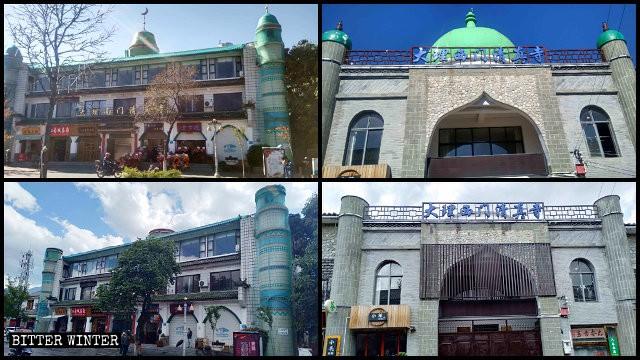 개조되기 전후 남문 모스크와 서문 모스크의 모습