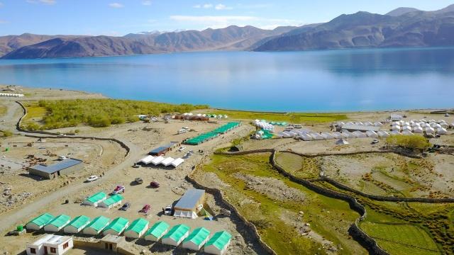 인도와 중국 간 영토 분쟁 지역의 하나인 판공호(班公湖)