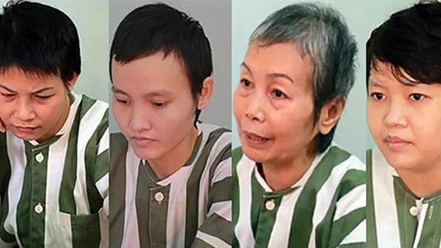 베트남에서 열린 소위 '콘크리트 시체' 재판의 네 피고인