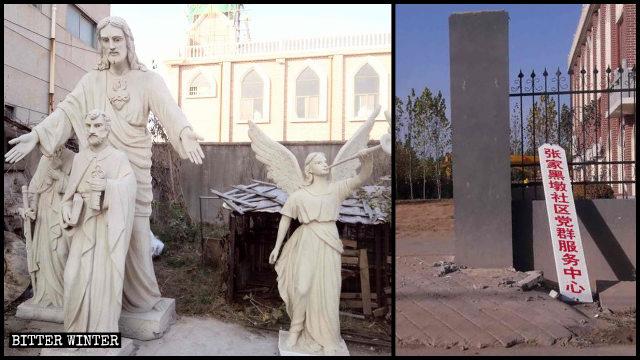 사진: 성당에서 모든 조각상들이 제거된 모습