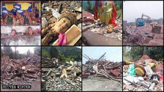 쓰촨성에서 160곳 이상의 민간 신앙 사찰이 철거되거나 폐쇄돼