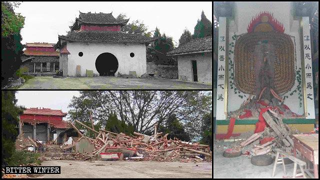 5월 28일에 철거된 청룡산 사찰